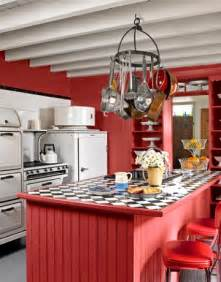 Red And White Country Kitchen - whitehaven red kitchens love em or not