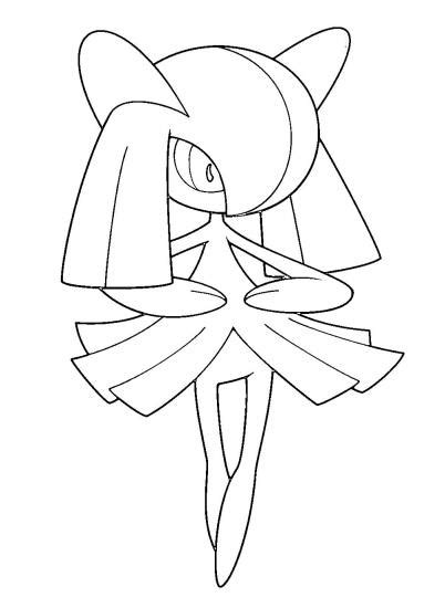 pokemon coloring pages gallade coloriage pokemon kirlia