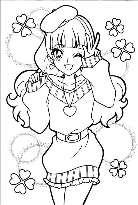 pretty cure characters anime coloring pages for kids printable free princess precure kirara precure pinterest princesses