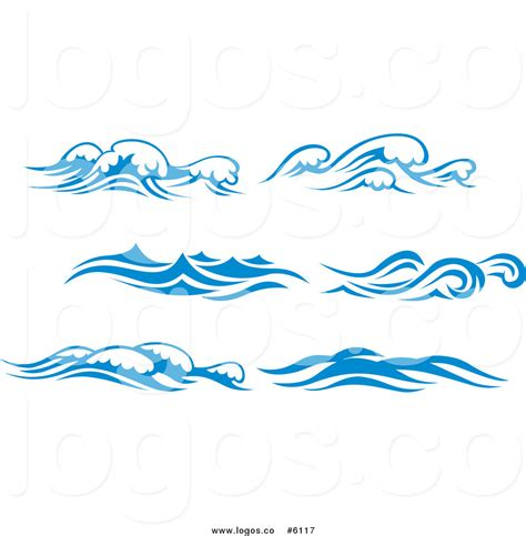 wave pattern logo blue water clipart black and white pencil and in color