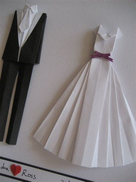 Origami Groom - and groom origami wall wedding gift paper