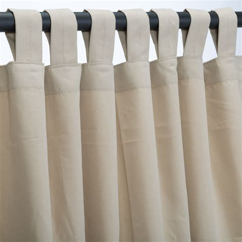 canvas outdoor curtains antique beige sunbrella outdoor curtains with tabs