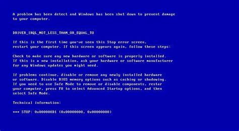 generate  blue screen  death bsod error