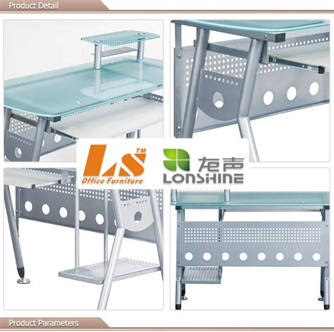 Tempered Glass Laptop tempered glass computer desk with keyboard tray buy