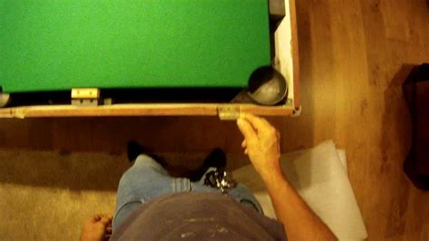 how to refelt a pool table bed and rails