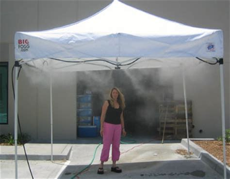 Build Your Own Patio Misting System by High Pressure Misting Tent Rental