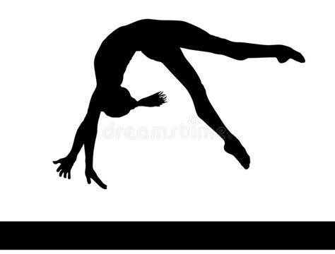 clipart ginnastica ginnastica artistica siluetta della donna di ginnastica