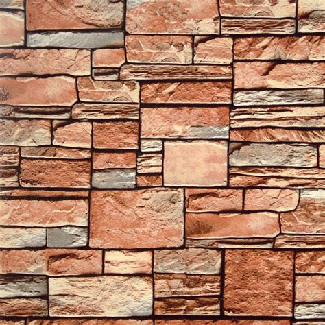Wallpaper Dinding Rock Batu Bata Abu Abu 3d Look cheap stacked wall home ideas collection building stacked wall