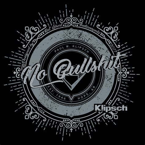 Tshirt Klipsch official limited edition klipsch no bullshit t shirt klipsch
