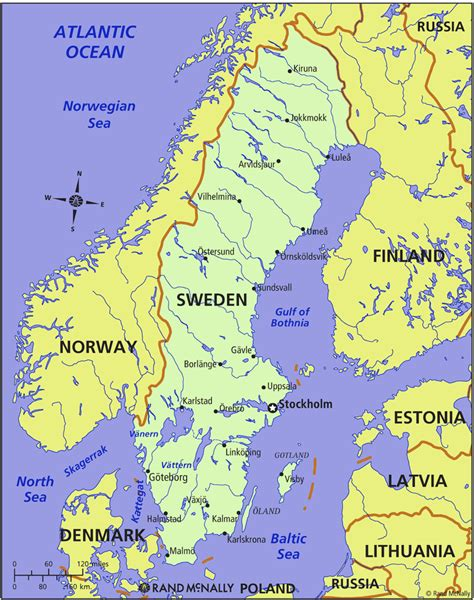 What A Map map of sweden in the world sweden map geography