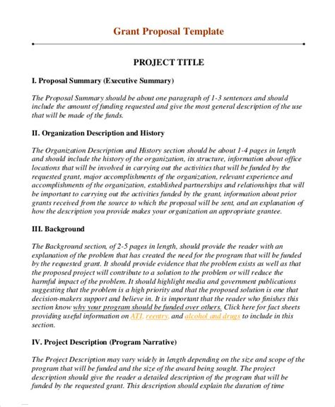 grant template 10 free word pdf documents