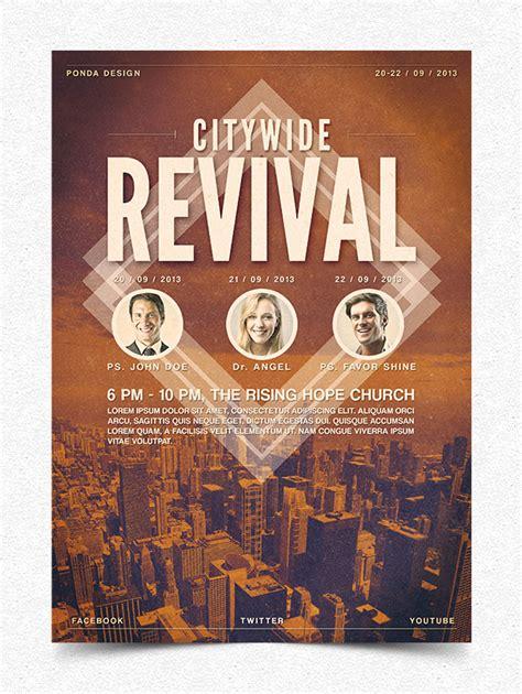 7 best images of youth revival flyer template church