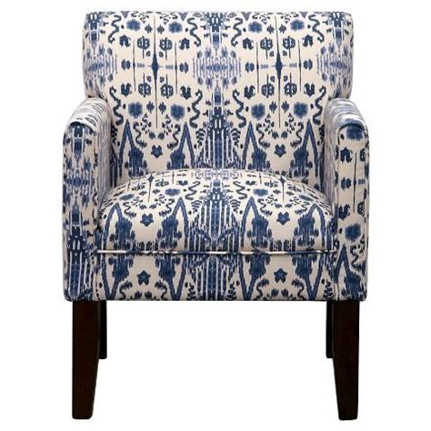 Blue And White Lines Swoop Arm Chair