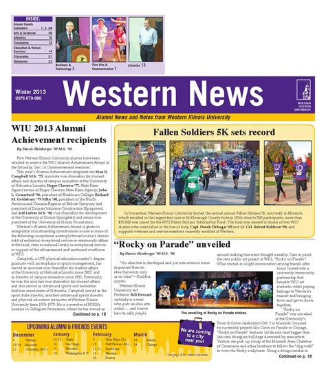 Western Illinois Mba by Western News Winter 2013 By Western Illinois