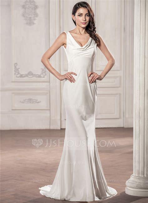 wedding dresses in new jersey trompete meerjungfrau linie wasserfallausschnitt sweep pinsel zug jersey brautkleid 002059192