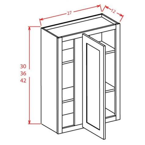 antique white corner cabinet wbc2742 shaker antique white wall blind corner cabinet