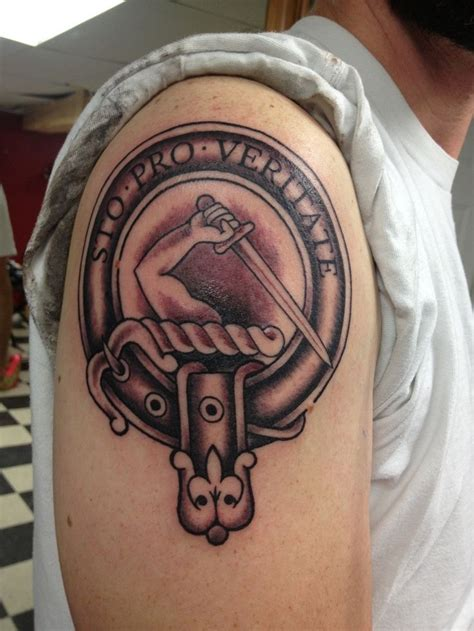 armstrong family crest tattoo on shoulder tattoo ideas