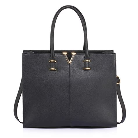Fashion Tote Bag Black ag00319c black fashion tote handbag