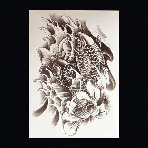 koi karper tattoo voorbeelden xl tattoos dieren zwart wit faketattoo nl
