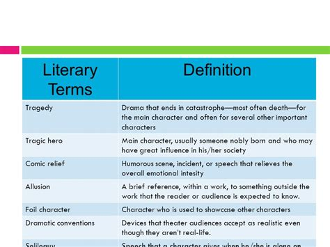 literary biography meaning romeo juliet literary terms ppt download