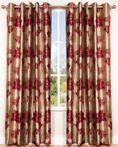 Curtains red and gold ~ Decorate our home with beautiful curtains