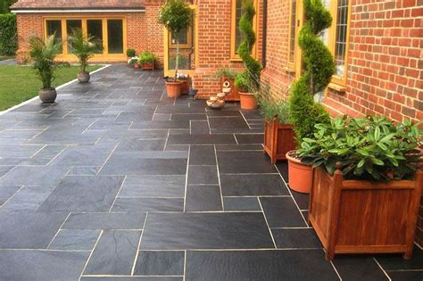 Black And Blue Patio blue black slate paving patio kit nustone
