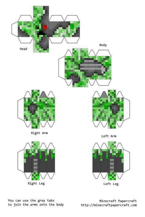 layout paper wikipedia papercraft creeper cyborg