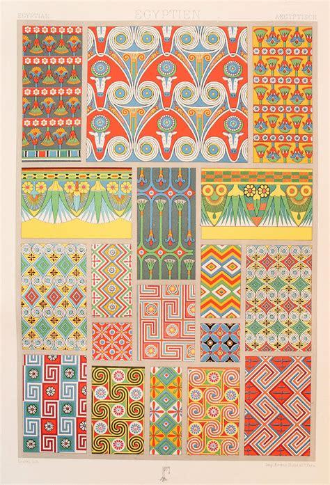 decorative art pattern books racinet egyptian decorative ornament 1880s original