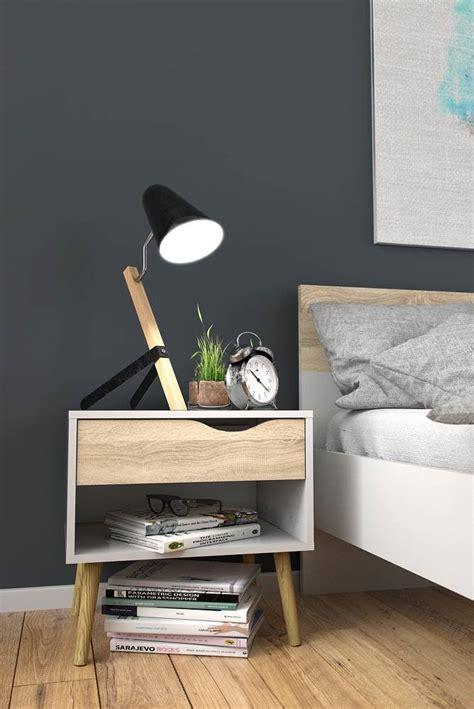 lade napoli tvilum nachtkastje napoli met lade en plank wit eiken