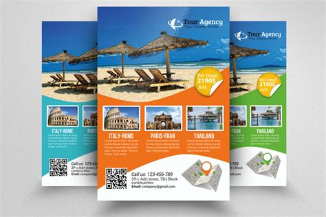 trip flyer templates free tour travel agency flyer template