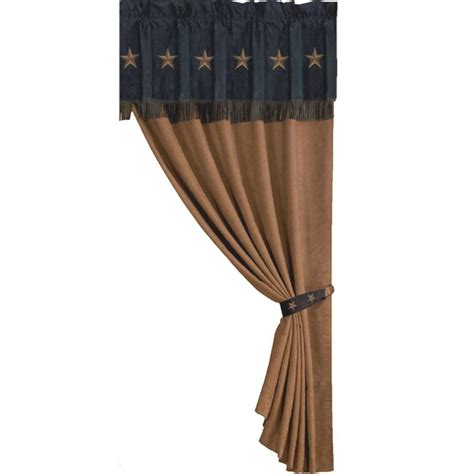 tan and black curtains laredo star western curtain black and dark tan style ws2018