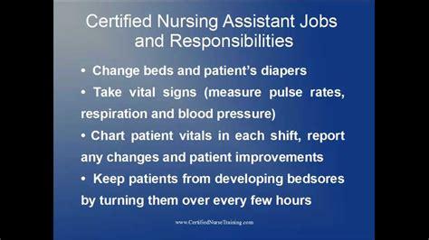 cna duties certified nursing assistant and responsibilities