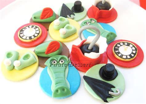 Edible Decorations For Cupcakes by Edible Pan Cupcake Toppers Neverland Set