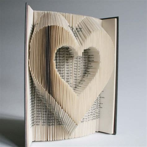 templates for folding books heart book folding pattern cuts plus free printable