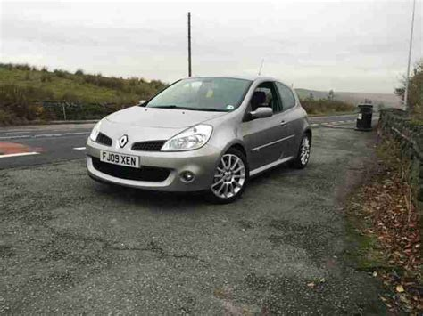 renault silver renault 2009 clio sport 197 silver no reserve bargain