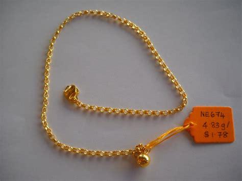 Gelang Kaki Xuping Polos Gold harga gelang tangan emas 916 terkini