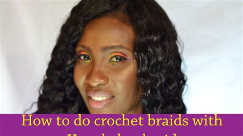 what hair do you use to do crochet braids how to do simple crochet braid using kanekalon hair