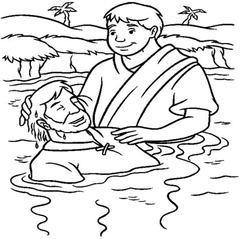 free coloring page baptism of jesus baptism coloring pages coloring home