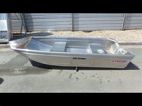 2017 stacer 360 skimma jon punt short shaft tinnie - Punt Tinny Boat For Sale