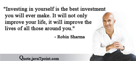 wwe enhance your greatest investment robin sharma quotes quote javatpoint