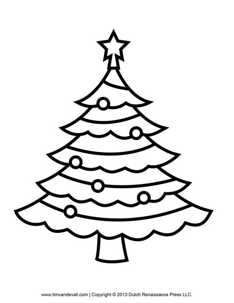 christmas tree clipart coloring page tim van de vall comics printables for kids