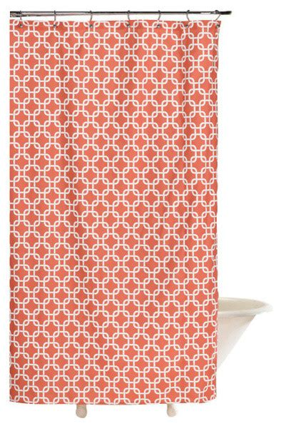 coral print curtains shower curtain coral metro contemporary shower