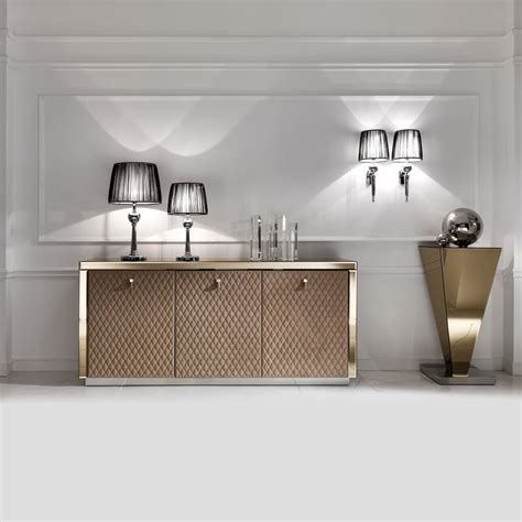 Glass Sideboards by Designer Bronze Mirrored Glass Sideboard