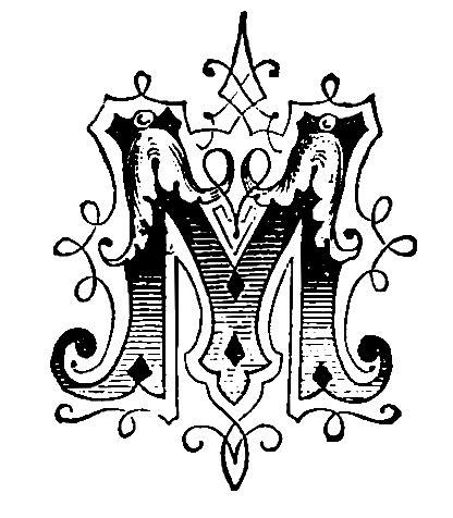 letter m layout fancy letter a designs clipart best