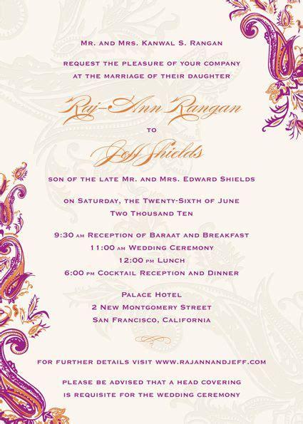 indian wedding invitation wording weddinginvite us