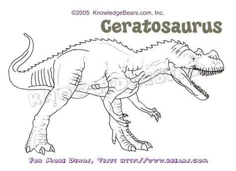 ceratosaurus dinosaurs information and coloring pages
