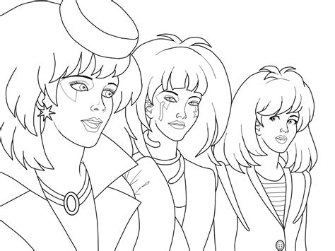 jem and the holograms coloring pages coloring home