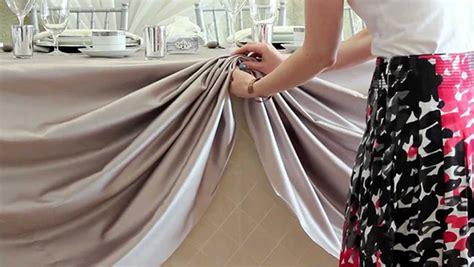 linen like table skirts scalloped table skirting diy tutorial
