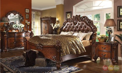 victorian bedroom vanity vendome victorian 7 drawer bedroom vanity desk in cherry
