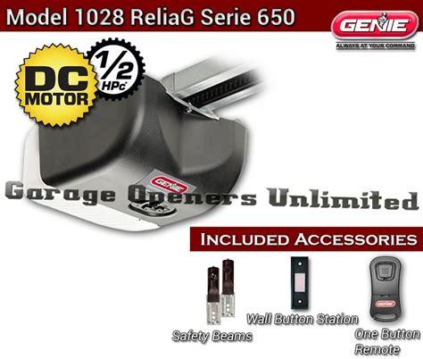 genie overhead door genie 1028 2tx reliag dc belt garage opener 38480r only
